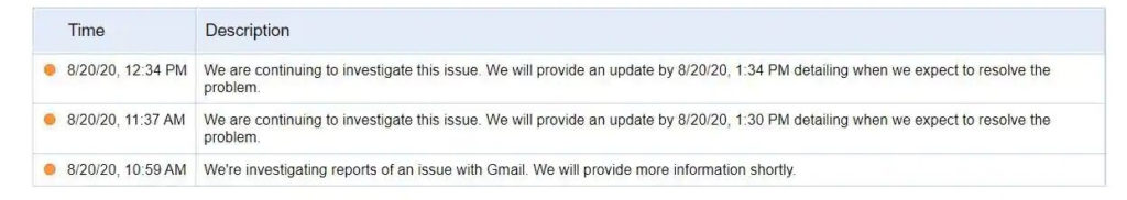 gmail problem